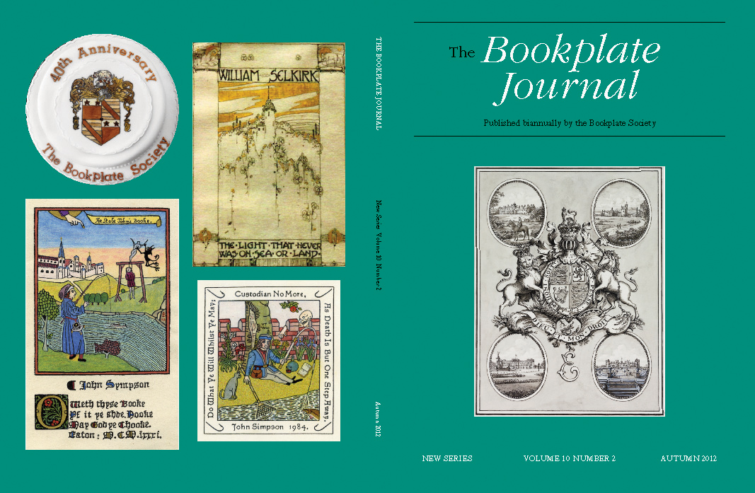 Cover of the Autumn 2012 issue of The Bookplate Journal