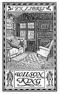Bookplate of Wilson King by New