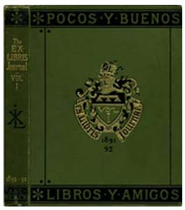 Cover of the Ex Libris Journal, designed by John Leighton