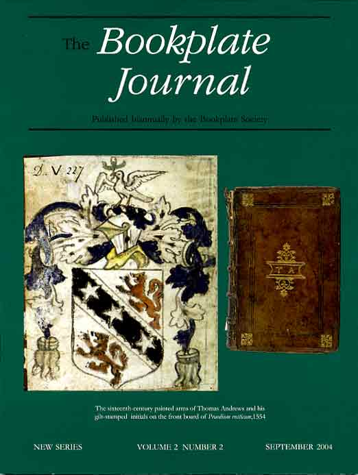 Cover of September 2003 issue of The Bookplate Journal (coming soon)