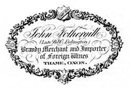 Label of John Fothergill by Mussett