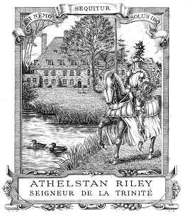 Bookplate by Osmond for Athelstan Riley