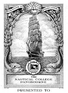 Presentation plate to The Nautical College, Pangbourne