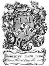 Bookplate of Robert Nash by Hillyard