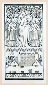 Bookplate illustrated on back cover of book