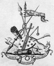 Bookplate of John Legard of Ganton